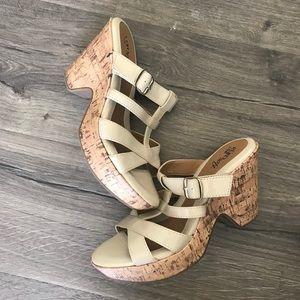 Euro sofft delivered open toe heeled sandal patent